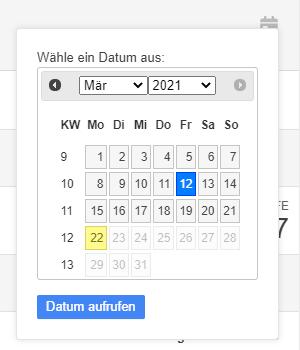 Datumsauswahl
